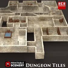 dungeon tiles base set printable scenery