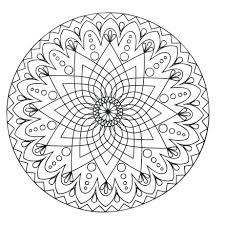 Printable Simple Mandala Coloring Pages Colouring For Adults Easy