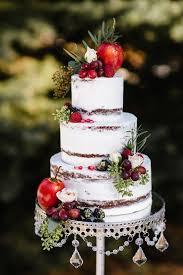 Rustic Wedding Cake Berries