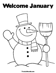 January Coloring Pages 27488