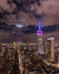 Empire State Building and 9 11 Tribute Lights Pixel Boss Ultra