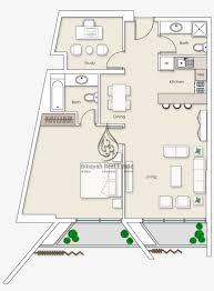 100 Burj Al Arab Plans Platinum Residences 1 Bedroom Apartment Type 2 Floor One