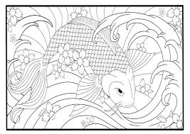 Koi Fish Coloring Page Digital Art By Tearing Cookie