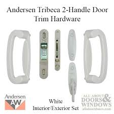 Andersen Patio Door Lock Instructions by Frenchwood Gliding 2 Panel Door Trim Hardware Tribeca Interior And