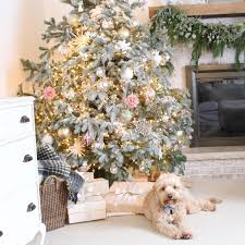Flocked Real Christmas Trees by Avery Street Design Blog 2016
