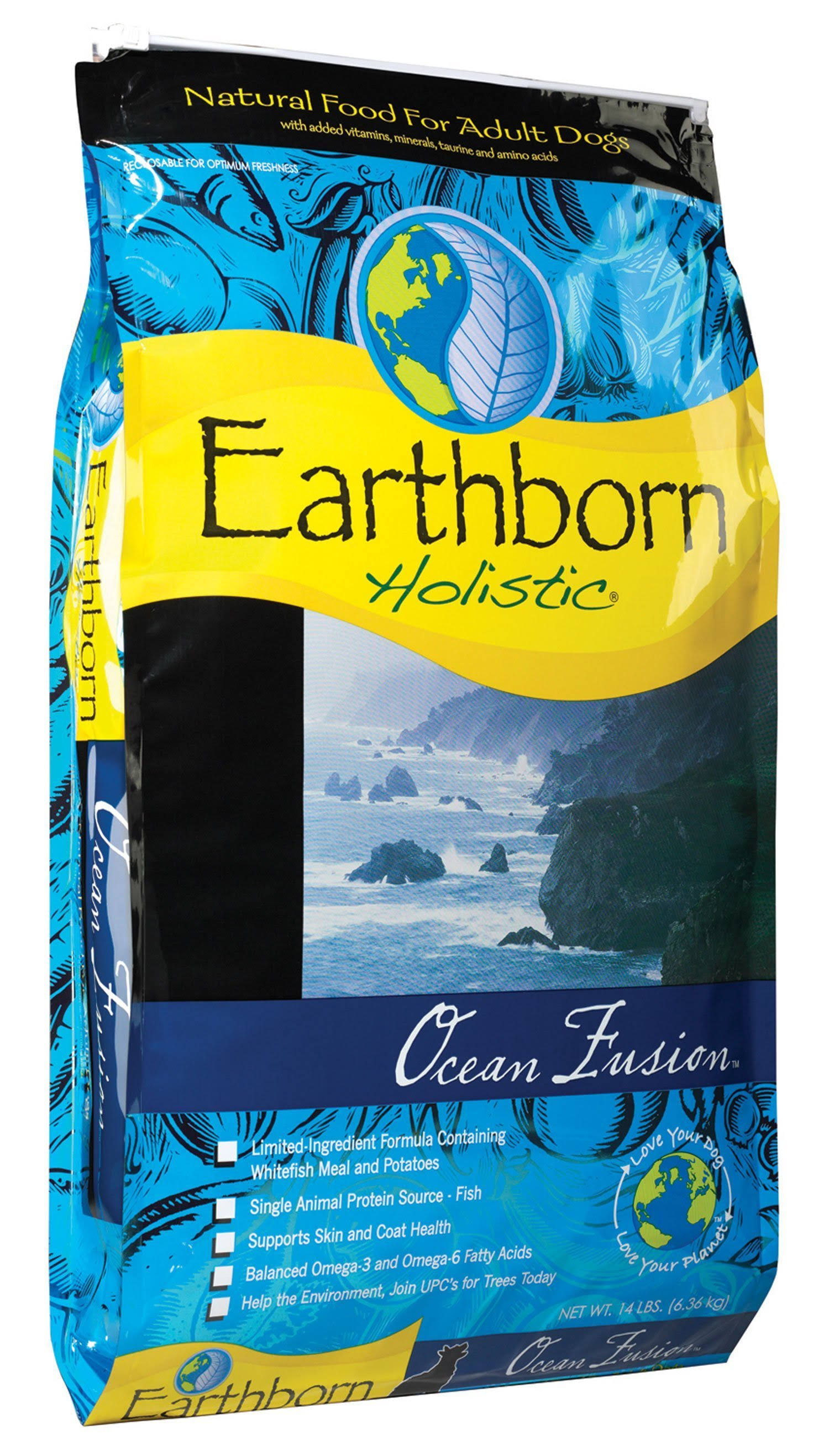 Wells Earthborn Holistic Ocean Fusion Natural Dog Food - Whitefish, 14lbs