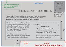 Mailing Guidelines And Design For Postcards
