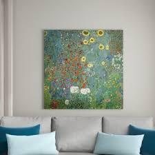 leinwandbild bauerngarten mit sonnenblumen gustav klimt