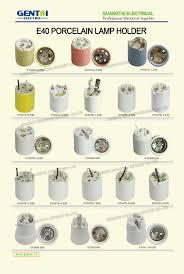 Porcelain Lamp Socket E17 by E10 E12 E14 E26 E27 E40 Ceramic Porcelain Lamp Holder With Many