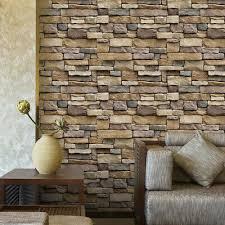 brick effect wallpaper für wohnzimmer schlafzimmer