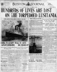 on may 7 1915 the british passenger ship the lusitania was
