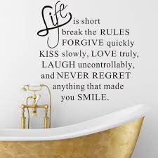 Ebay Wall Decor Quotes by Life Is Short Words Removable Wall Sticker Murals Home Room Decor