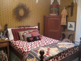 Prim Old Bedroomquilts On Teh Bed Corner Cupboard Pretty Houses April