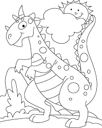 Dinosuar In Park Coloring Pages
