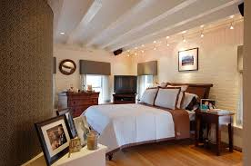 ams lighting bedroom contemporary with brick wall track lighting