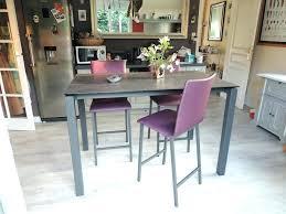 table de cuisine haute avec tabouret table haute avec tabouret pour cuisine hauteur table bar cuisine