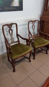 2x antiker stuhl sessel gründerzeit massiv biedermeier