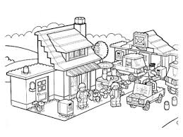 Coloring Pages Lego Home