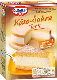 dr oetker käse sahne torte backmischung 385g