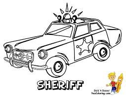 Sheriff Police Car To Print At YesColoring