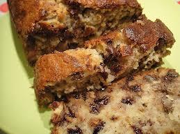 nuss bananen kuchen mit schokostückchen