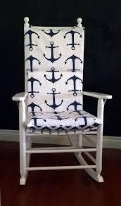 Light Grey Rocking Chair Cushions by Big Navy Anchors Rocking Chair Cushion Nautical Baby Nursery
