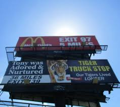 Billboard Location #22 | BASS, Ltd. Live Tiger At Truck Stop Grosse Tete La 180 Out At The In Louisiana Stops Two New Animals Frustrate Activists But Local Infamous Owner Acquires More Exotic Animals For Display Yes There Really Is A Free Tony The Criminal Shdown Wunc Camel Now Famed Truck Stop Outside Baton Rouge Owner Roundup Tiger Back Headlines Another Kelty Jobyronkuhnercom