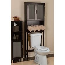 Espresso Bathroom Wall Cabinet With Towel Bar by Bathroom Tall Brown Above Toilet Storage With Doors And Towel