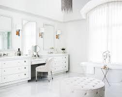 Chandelier Over Bathroom Vanity by Cream Beaded Chandelier Over Bathtub Transitional Bathroom