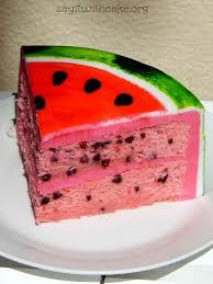 Watermelon Fondant Cake