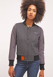bombers beyrout bomber jacket dark grey women jackets