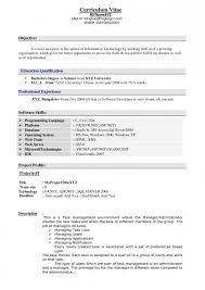 Sample Resume Format Experienced Candidates Kegiatan