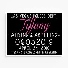 Printable Bathroom Sign In Sheet by Bachelorette Party Mugshot Signs Customized With Your