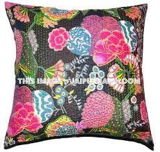24x24 indian kantha throw pillows indian decorative pillow covers
