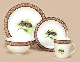 Cabin Style Dinnerware Western Stoneware Dinner Set By Rivers Edge Outlet Pigeon Forge