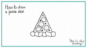 How to draw a PIZZA SLICE in 7 STEPS EASY step by step