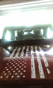 Rustic American Flag Decal For Jeep Wrangler