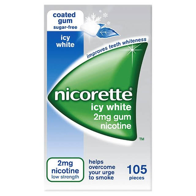 Nicorette Chewing Gum - Icy White, 105pcs