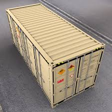 100 Shipping Container Model Open Side