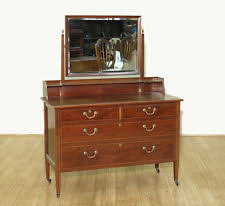 Tiger Oak Dresser With Swivel Mirror by Antique Vanity Dresser Ebay