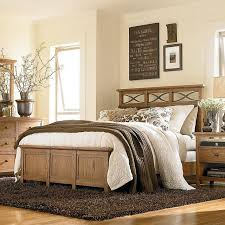 Carmel Panel Bed In A Medium Dry Oak Finish At D Noblin Furniture