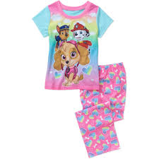 girls u0027 licensed 4 piece cotton pj walmart com