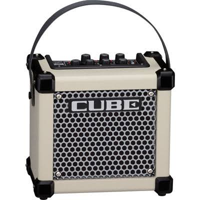Roland Micro Cube GX Ultra Compact Mini Guitar Amplifier - White, 3 W