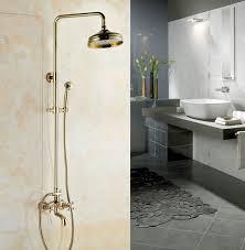 gold farbe messing wand halterung 8 zoll badezimmer dusche