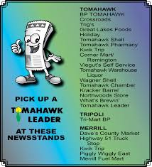 100 Tomahawk Truck Stop Brighton Co Leader Newspaper Classified Ad Center WI