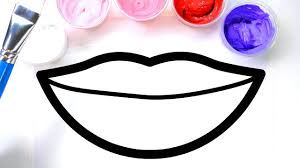 Painting Lips Juice Box Coloring Pages For Kids Children Learn To Color With Paint