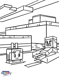 Minecraft Players Coloring Page
