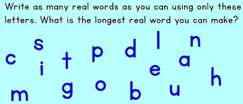 Unique Words to Spell with Letters for Your Cut Out Letters