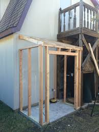 the shed walls are framed pressure treated wood is used for the