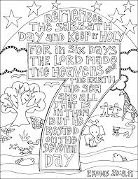 Sabbath Coloring Pages 4 Keep The Scripture Doodle From Victory Road